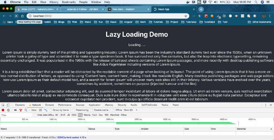 Lazy Loading Demo